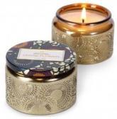 Voluspa Doftljus Crane Flower Embossed Glass Jar Candle