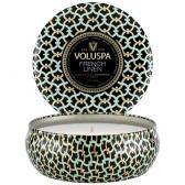 Voluspa Doftljus French Linen 3-Wick Tin