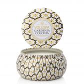 Voluspa Gardenia Colonia 2-Wick Metallo Candle