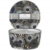 Voluspa White Currants & Alpine Lace 3-Wick Pedestal Tin Doftljus