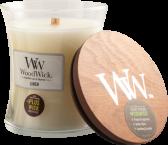 WoodWick Linen Medium Burk (Nytvättat Linne)