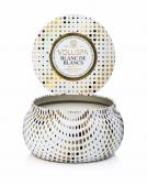 Voluspa Blanc De Blancs 2-Wick Metallo Candle