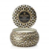 Voluspa Crisp Champagne 2-Wick Metallo Candle
